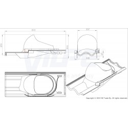 VILPE® XL Tiili praėjimo elementas