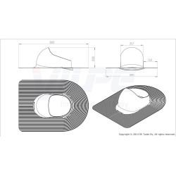 VILPE® XL HUOPA praėjimo elementas