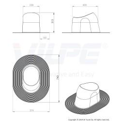 VILPE® XL HUOPA aukštas praėjimo elementas