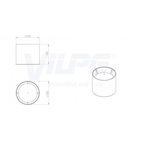 VILPE® AP gaubtas-160