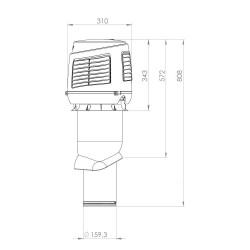 Vilpe 160/IS/500 Pritekėjimo elementas