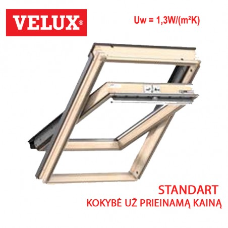 Stogo langas Velux GZL 1051 Standard matmenys 114 x 118 cm
