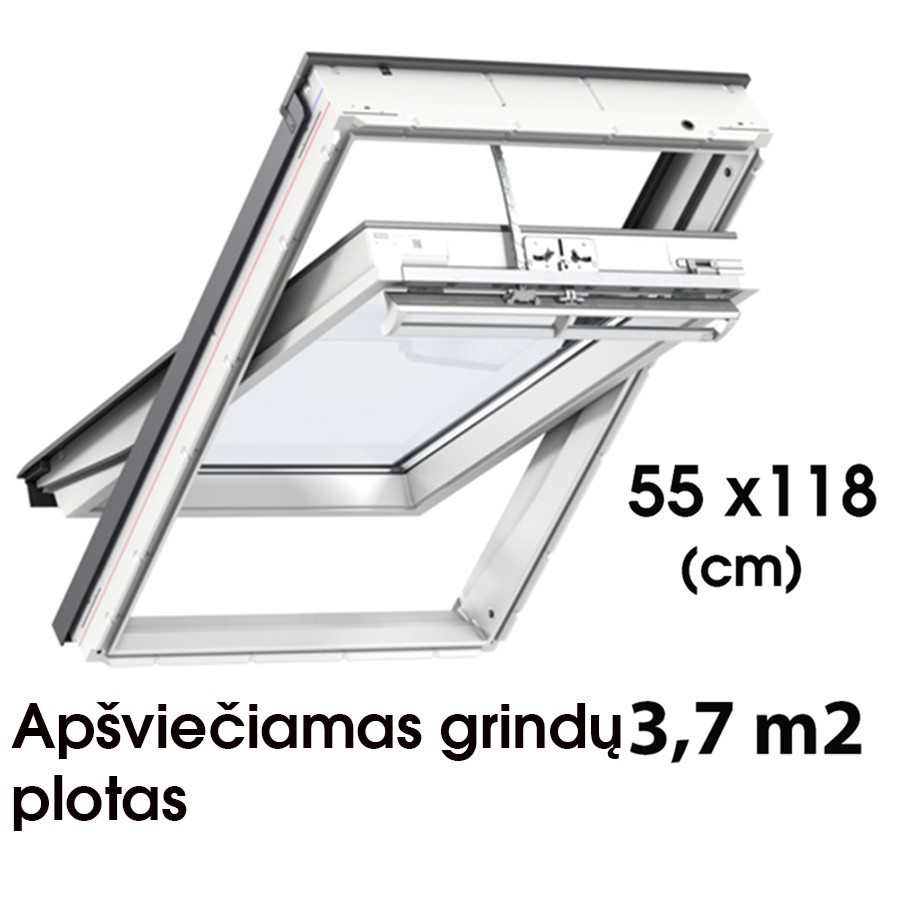 Matmenys  55 x 118 cm