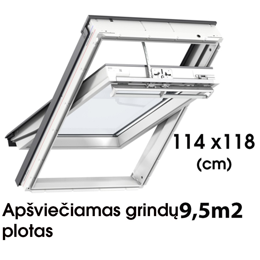 Matmenys  114 x 118 cm